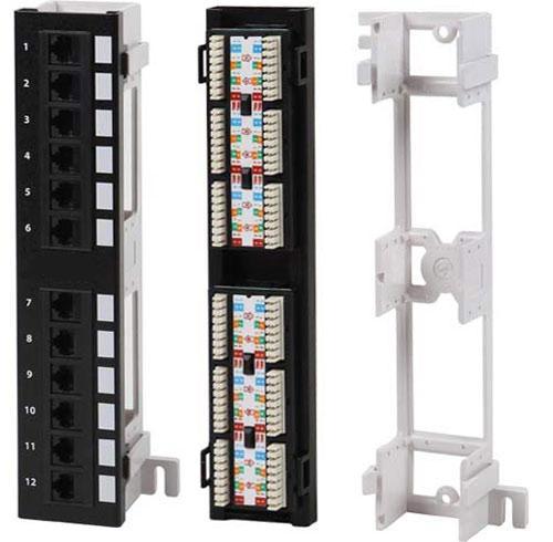 PPW-12-8P8C-C6-AL Патч-панель настенная, 12 портов RJ-45, категория 6, алюм